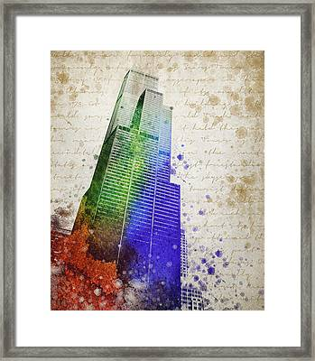 Willis Tower Framed Print by Aged Pixel