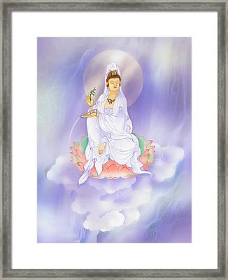Willow Kuan Yin Framed Print by Lanjee Chee