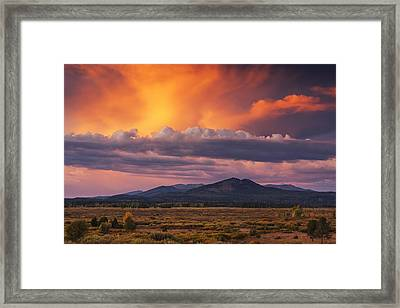 Willow Flats Sunset Framed Print by Mark Kiver