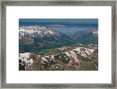 Willow Lake, Bear Trap, Mt Framed Print by Howie Garber