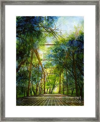 Willow Springs Road Bridge Framed Print by Hailey E Herrera