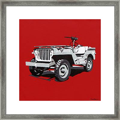 Willys Jeep Framed Print by Slade Roberts