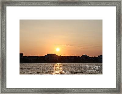 Wilmington North Carolina Sunset Framed Print by John Telfer