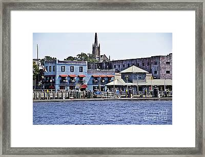 Wilmington Water Front Framed Print by JW Hanley