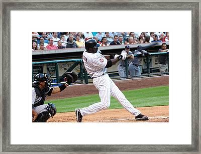 Wilson At Bat Framed Print by Teresa Blanton