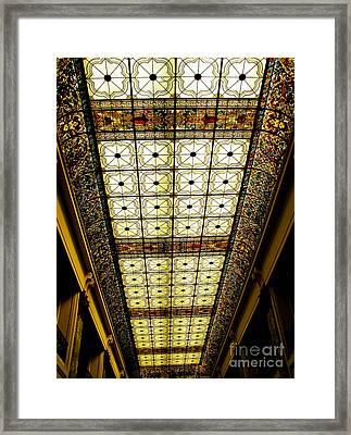Wilson Hall Ceiling Framed Print by Colleen Kammerer