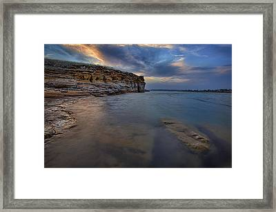 Wilson Red Rock Sunset Framed Print by Thomas Zimmerman