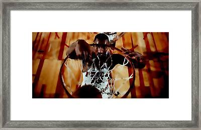 Wilt Chamberlain Framed Print by Brian Reaves