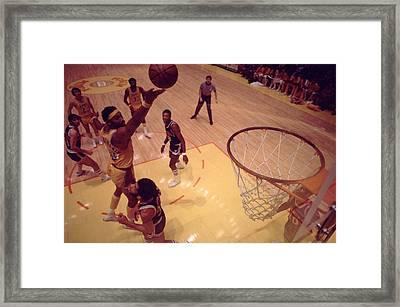 Wilt Chamberlain Finger Roll  Framed Print by Retro Images Archive