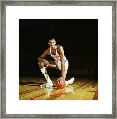 Wilt Chamberlain Framed Print by Retro Images Archive