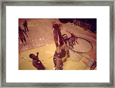 Wilt Chamberlain Over Kareem Framed Print by Retro Images Archive