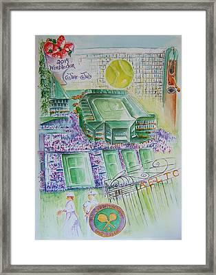 Wimbledon 2014 Framed Print by Elaine Duras