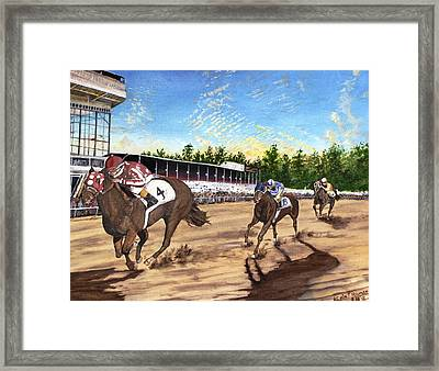 Win Place Show Framed Print by Kevin F Heuman