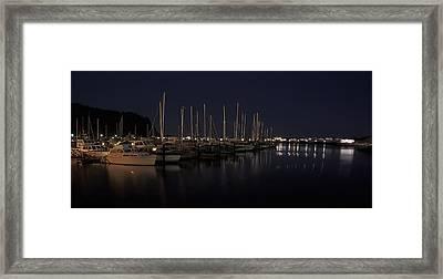 Winchester Bay Marina - Oregon Coast Framed Print by Daniel Hagerman