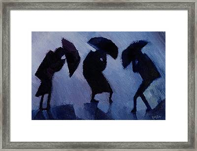 Wind And Rain Framed Print by Willie Rodger