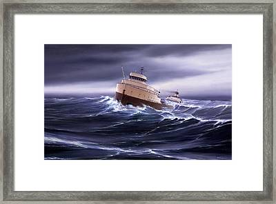 Wind And Sea Astern Framed Print by Captain Bud Robinson