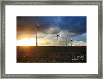 Wind And Sun Framed Print by Olivier Le Queinec