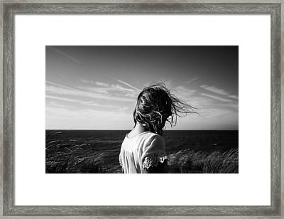 Wind Blowing Framed Print by Charo Diez