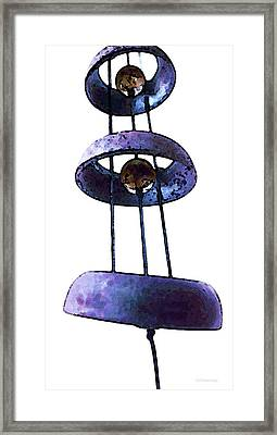 Wind Chime 8 Framed Print by Sharon Cummings