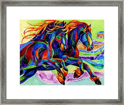 Wind Dancers Framed Print by Sherry Shipley
