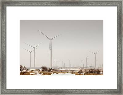 Wind Farm Framed Print by Ashley Cooper