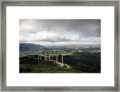 Wind Farm Framed Print by Jon Wilson
