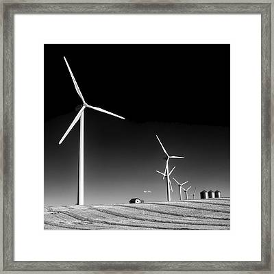 Wind Farm Framed Print by Trever Miller