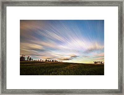 Wind Stream Streaks Framed Print by Matt Molloy