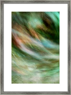Wind Through Grass Framed Print by Mah FineArt