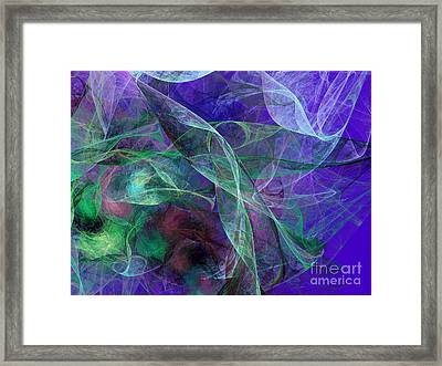 Wind Through The Lace Framed Print by Andee Design