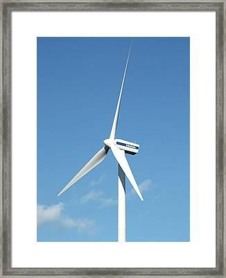 Wind Turbine Framed Print by Alex Bartel
