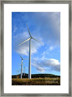 Wind Turbine Farm Framed Print by Olivier Le Queinec