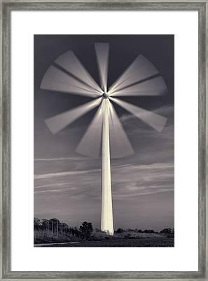 Wind Turbine Flower Framed Print by EXparte SE