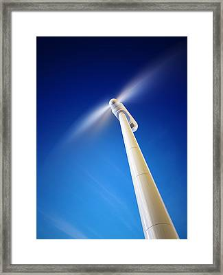 Wind Turbine From Below Framed Print by Johan Swanepoel