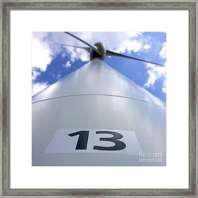 Wind Turbine. No 13 Framed Print by Bernard Jaubert
