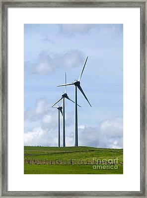 Wind Turbines Framed Print by Bernard Jaubert