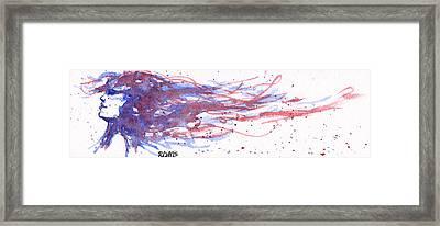 Windblown Joy Framed Print by Rebecca Davis