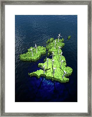 Windfarms On British Isles Framed Print by Victor Habbick Visions