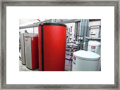 Windhager Biomass Boiler Framed Print by Ashley Cooper