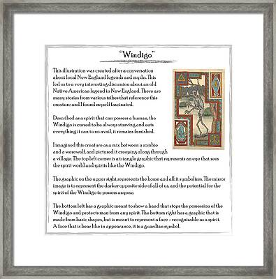 Windigo Story Framed Print by Michael Lee