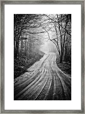 Winding Dirt Road Framed Print by Karol Livote