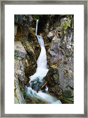 Winding Down The Cliffs Framed Print by Jeff Swan