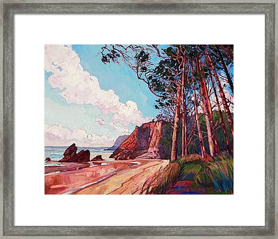 Winding Pines Framed Print by Erin Hanson
