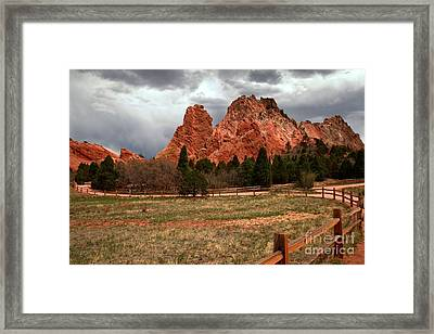 Winding Through The Garden Of The Gods Framed Print by Adam Jewell