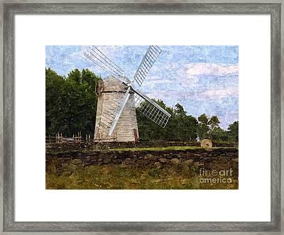 Windmill Framed Print by Diane Goulart