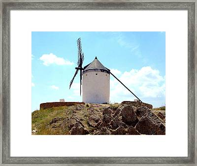 Windmill In Spain Framed Print by Kay Gilley