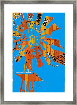 Windmill Of The Sun Framed Print by Jame Hayes