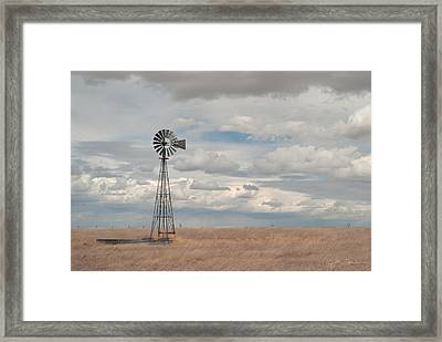 Windmill Picture Framed Print by Julie Magers Soulen