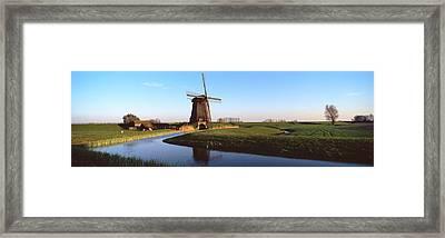 Windmill, Schermerhorn, Netherlands Framed Print by Panoramic Images