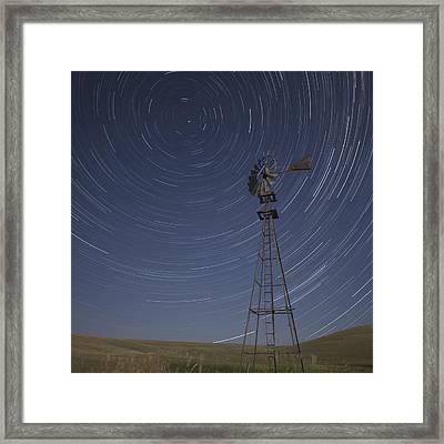Windmill Stars Framed Print by Latah Trail Foundation